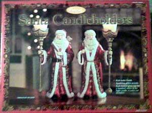 Santa Candleholders