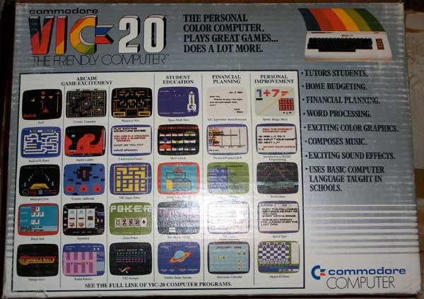 Vic 20 Box - Back