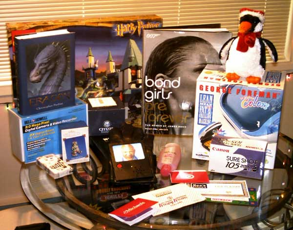 Most of the 2003 Christmas Haul. Click to enlarge.