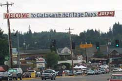 Welcome to Clatskanie Heritage Days - July 4