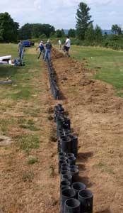 Burying the mortars...