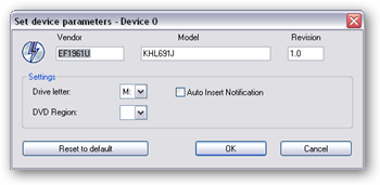 Uncheck the 'Auto Insert Notification' box in Daemon Tools device parameters.