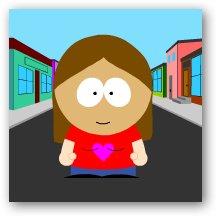 Jenn as a South Park character