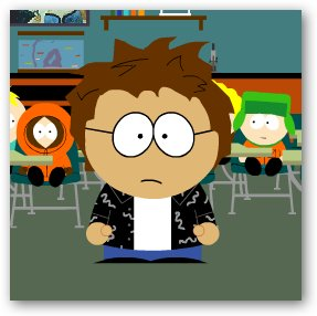 Travis as a South Park character