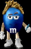 Travis as an M&M