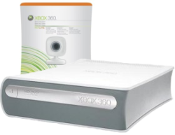 Xbox Live Vision camera and Xbox 360 HD DVD player