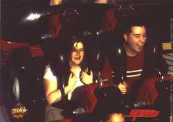 "Trav and Jenn on ""Speed: The Ride"""
