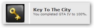 Key To The City: You completed GTA IV to 100%