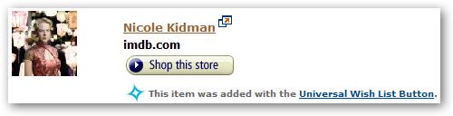 Nicole Kidman - Added via the Universal Wish List Button.