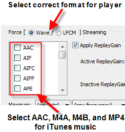 "Asset UPnP ""Force Streaming"" configuration"