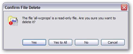 """Confirm File Delete"" dialog"
