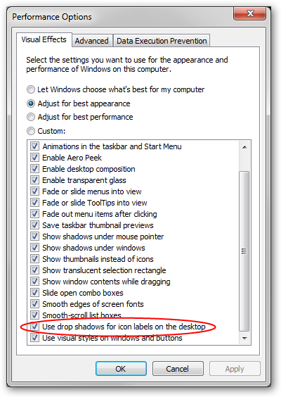Visual Effects in Windows Server 2008