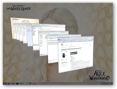 Windows Aero Flip 3D task switcher