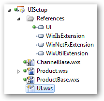Add the .wxs file to the .wixproj.