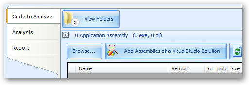"""Add Assemblies of a VisualStudio Solution"" button."