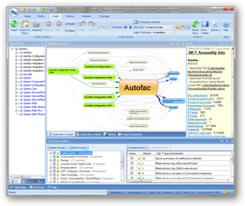Navigating a report visually in NDepend.