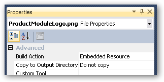 Embedded resource properties