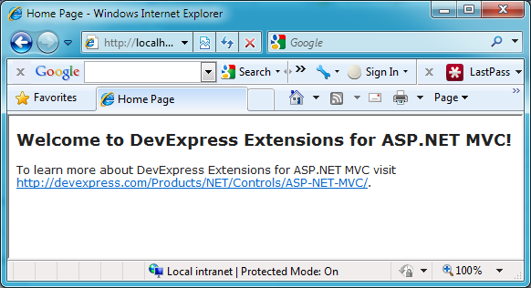 Trying Out DevExpress MVC Extensions