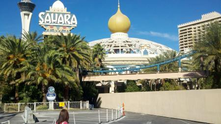 The Sahara, all boarded up so you can't go in.