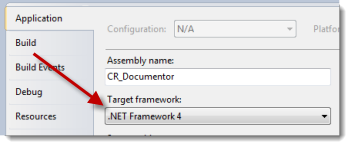 Set the target framework to .NET 4.0
