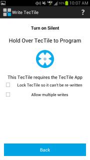 Samsung TecTile app: Write TecTile