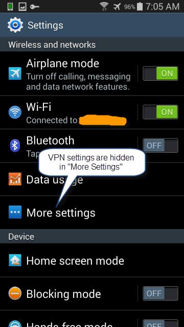 """Choose """"More settings"""""""