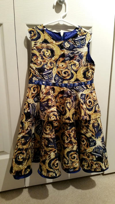 The 'exploding TARDIS' dress