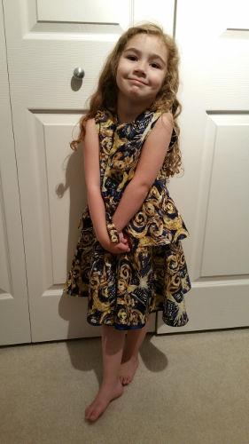 Phoenix in her new dress