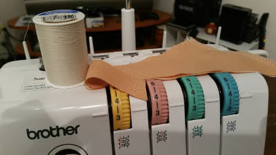 Cape lining serger settings