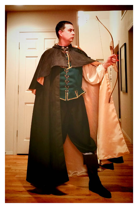 The finished Robin Hood costume
