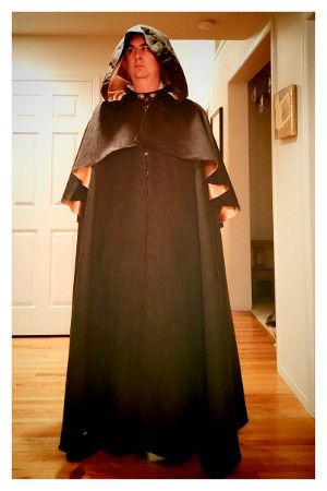Costume with the cloak closed