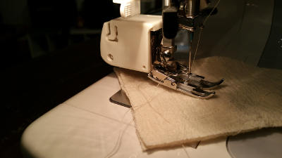 Even foot on the sewing machine