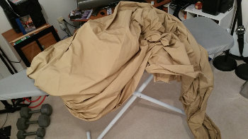 Ironing the main fabric