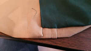 The jacket lining gathering fixed