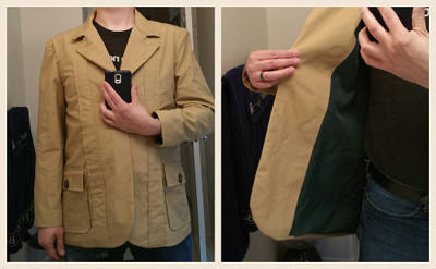 Lining fully in the jacket