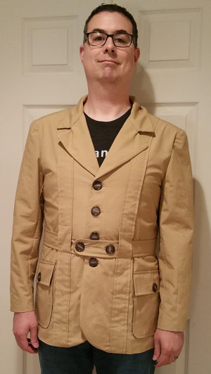 The completed jacket