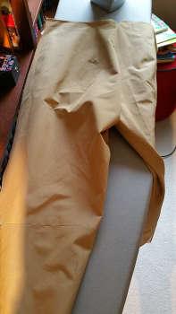 Back leg halves sewn together