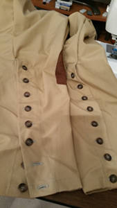 Leg buttons in place