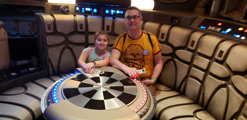 Sitting in the Millennium Falcon
