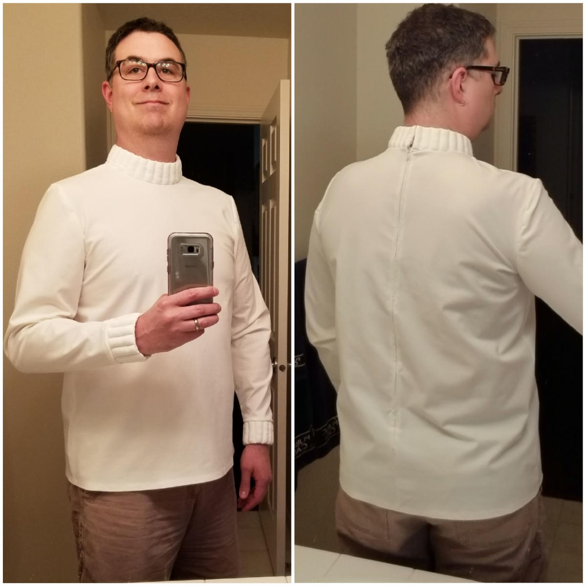 July 28, 2019: The finished shirt