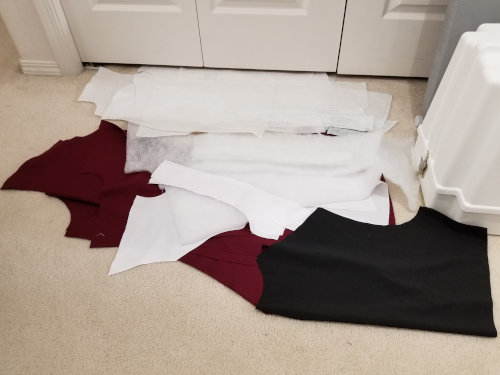 September 8, 2019: All jacket pieces cut