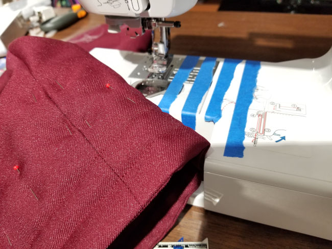September 15, 2019: Quilting the sleeve ends