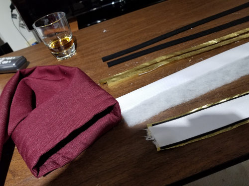September 18, 2019: Making the left sleeve stripe