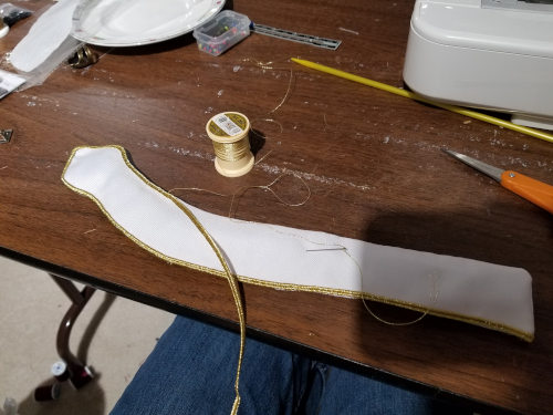 September 29, 2019: Making the shoulder strap