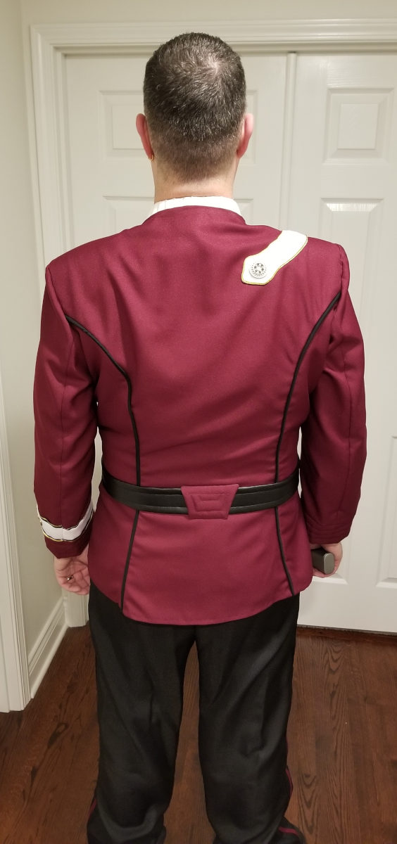October 26, 2019: The complete costume (back)